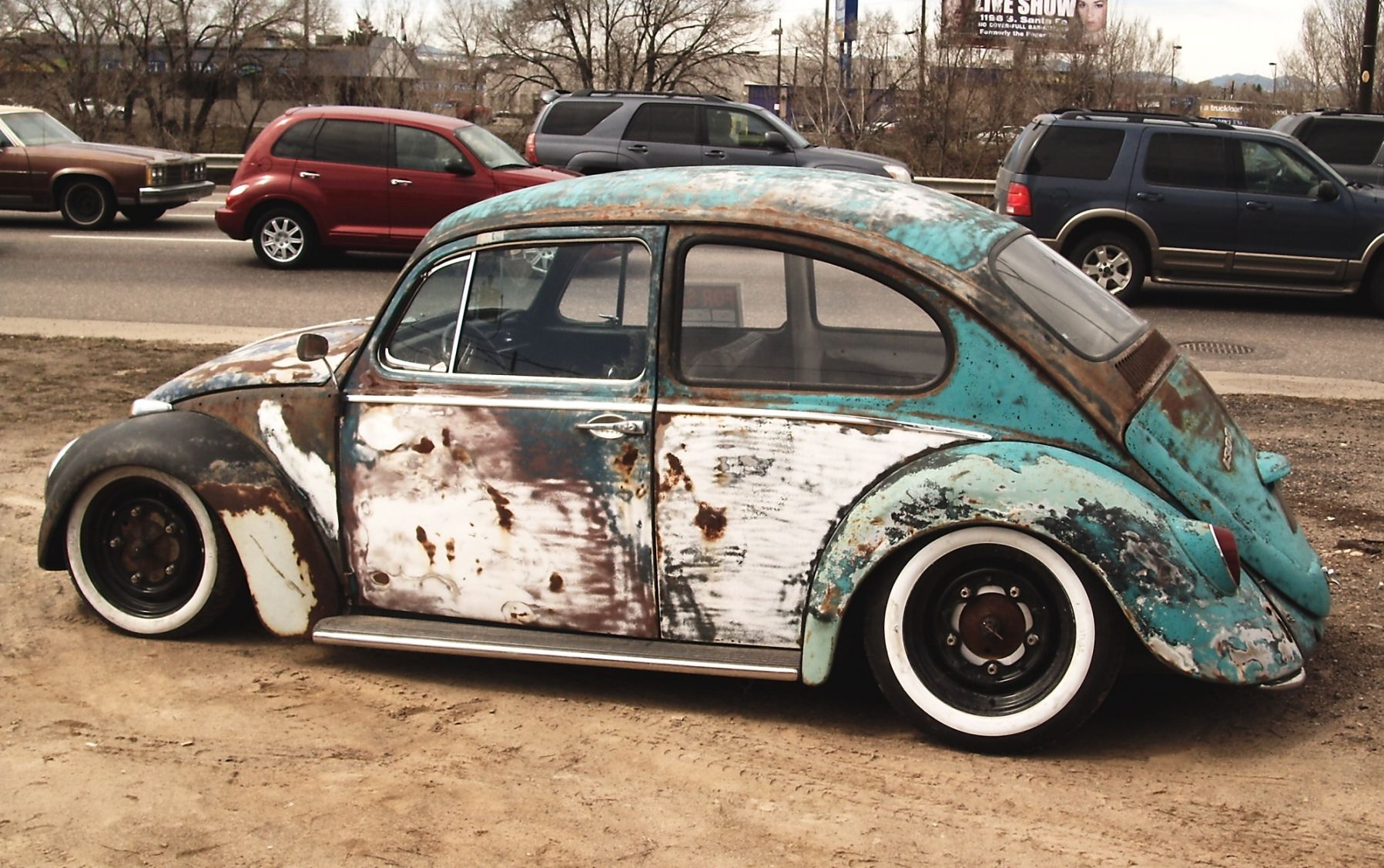 Power Cars Volklswagen Beetle Bug Rat Look