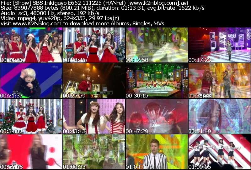 [Show] SBS Inkigayo E652 111225 [Christmas Special]