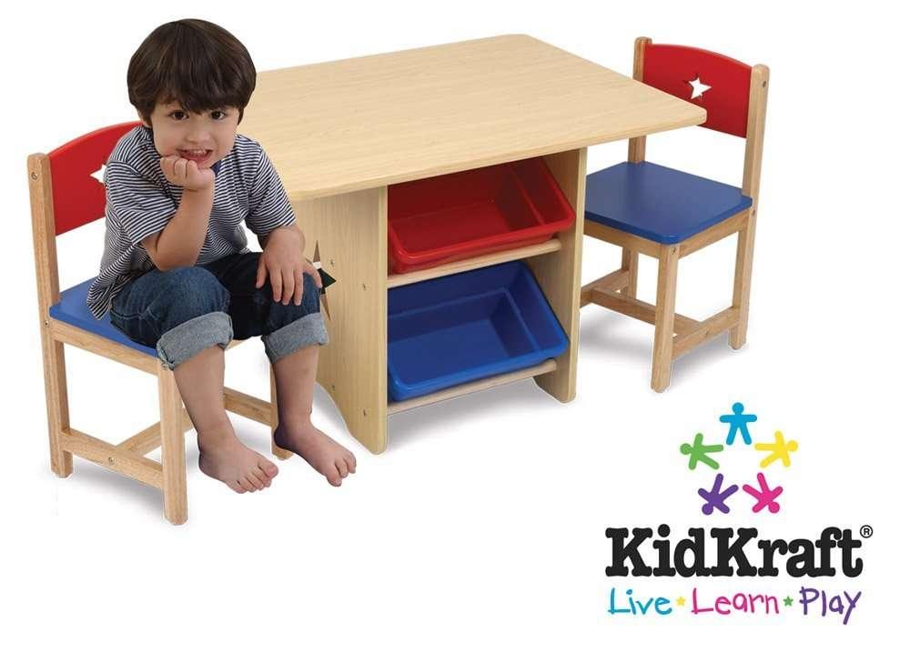 Juego de mesa y sillas con caracteres de estrellas azul for Silla roja y azul